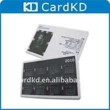 2012 black calendar pvc/plastic Card