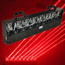 Lanling moving head laser light, 8 heads red fat beam laser curtain