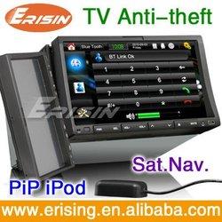 Erisin 7 inch 2 Din car radio gps stereo usb sd tv player detachable