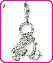 popular alloy faith hope and love three charm set for necklace and bracelet pendant jewelry (H100862)
