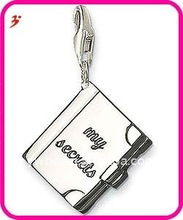 popular alloy diary book to write down your mood charm jewelry(H100880)