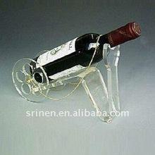 clear mortar shape acrylic wine bottle rack holder for shop