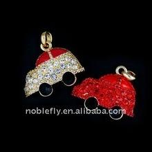 novelty design high writing,reading speed jewelry car shape usb memory