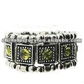 fashion vintage emerald crystal metal scarf ring