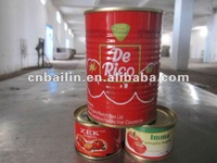 De Rica quality 50X70gms Tomato Paste in Tin
