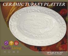 ceramic turkey platter