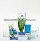 Cheaper clear square glass vase