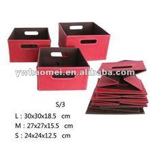 2012 HOT SALE ! foldable leather storage box