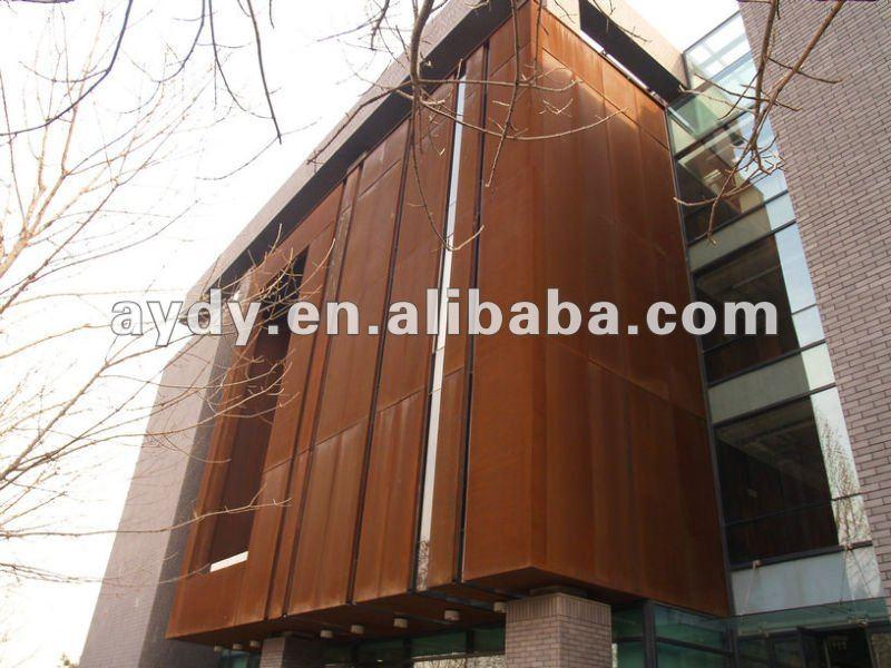 aço corten para fachadas de edifícios corten
