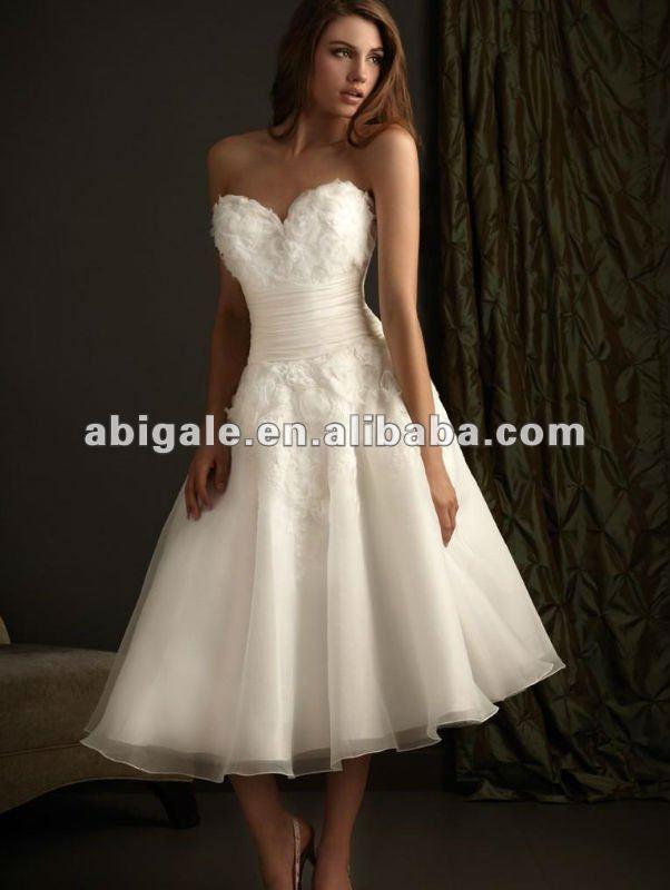 Elegant Beautiful Short Bridal Wedding Dress