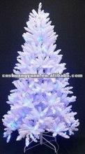 beautiful white christmas light tree