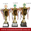 Fashion metal trophy cup for champion runner-up and second runner-up