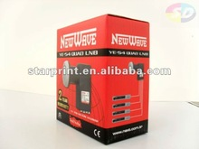 Double inserted packaging box