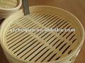 Chinês 3 camadas de bambu alimentos cozinhados panela de vapor, cesta de bambu 8 - polegadas set