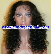 """Wholesale 16"""" 1# curly pure remy virgin Chinese wigs in stock,accepty paypal"""