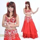 Red costume belly dancing .belly dancing costumes,belly dancing wear,BellyQueen