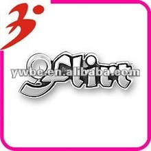 new style alloy flirt letter with jump ring charm jewelry(184836)