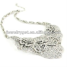 HOT SELL,Fashion Accessories, Silver Multilayered Nets Alloy Necklace Jewelry / Jewels, NL-1604