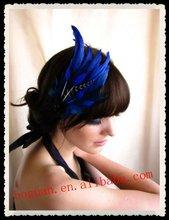 2012 Fashion bridal feather fabric flower wedding decoration wholesale