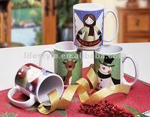 16OZ ceramic can shape coffee mug with decal printing
