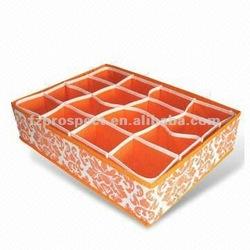 16 grids non woven storage underwear organizer box
