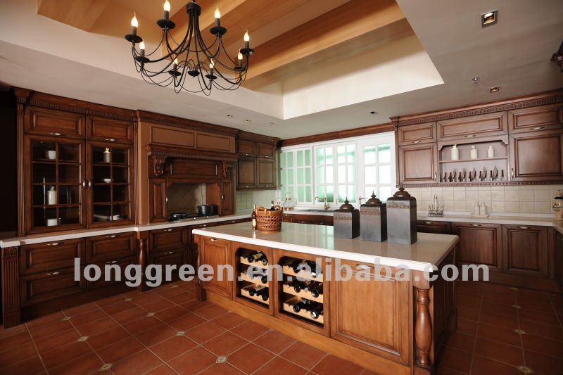venta Villa clásica prioridad gabinetes de cocina de maderaCocinas