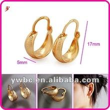 trendy cheap basket golden hoop earings (E630471)