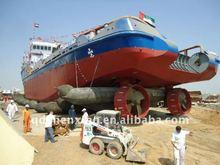 Large tug launching or landing ship airbag