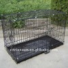Foldable anti-corrosion Dog Crate (2doors plastic tray or metal tray)