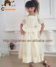 New style !popular girls one piece dress with half sleeve