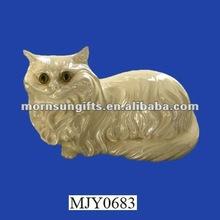 Adorable Ceramic Cat Figurine Art