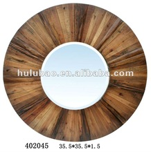 2012 new style hand painted home decor wood mirror