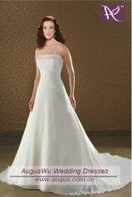 AWM-007 Elegant Beaded Chiffon Bride Dress Gown 2012