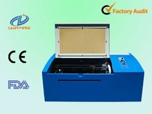 small acrylic/ crystal seal/ stamp/ signet laser engraving cutting machine with 370X150mm