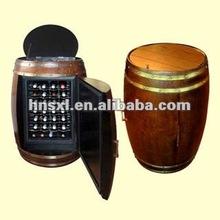 28 bottles oak wine cooler