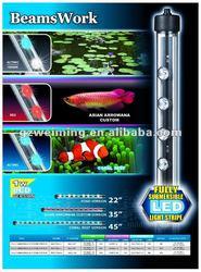 BeamsWork Fully Submersible LED Stripe Aquarium Light Fish Tank lamp energy saving, Fits Tank 120cm CE