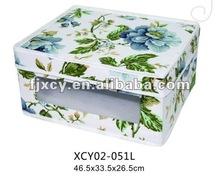 Economic Canvas storage bin box with pvc window