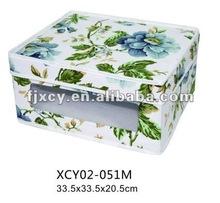 Fashion Canvas storage bin box with pvc window