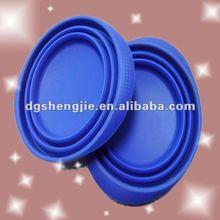 2012 New promotional folding silicone dog bolw