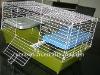 sturdy rabbit cage(silver light ,black ,blue ,pink purple )