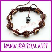 Wholesale evil eyes bracelet shamballa beads
