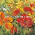 Flor de pintura a óleo, bela flor impressionismo pintura