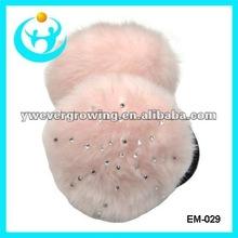 Fashion winter fur earmuffs with crystal