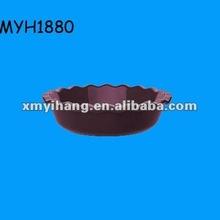 2012 new fashion ceramic pie dish plate