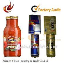 2012 promotional adhesive pvc shrink label