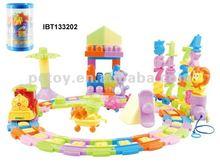 Toy brick train