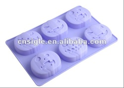 6cups silicone halloween pumpkin cake mould