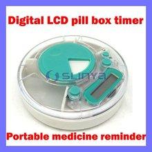 Digital lcd medicine pill box reminder timer pill case timer