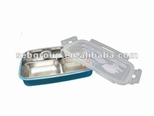 2012 Stainless steel & plastic lunch box