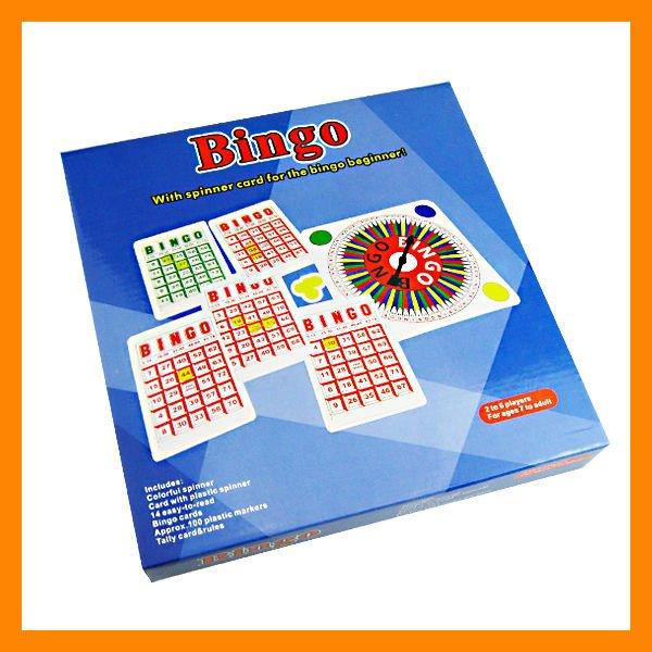Bingo con spinner tarjeta para la Bingo principiante